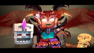 getlinkyoutube.com-Supernatural Mobs: Skeleton King vs Herobrine! (Minecraft Animation)