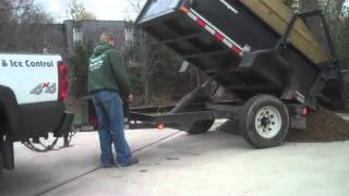 getlinkyoutube.com-EZ Dump trailer-Dumping load of River gravel