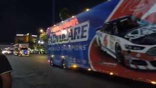 getlinkyoutube.com-NASCAR Hauler Parade - Las Vegas Blvd. 2015