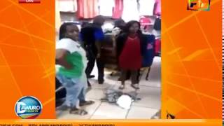 female thief stripped Naked...She Was Caught Hiding Stoling items in Her Pants!!!