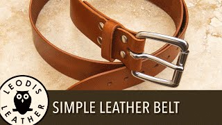 getlinkyoutube.com-Making a Simple Leather Belt (53 mins)