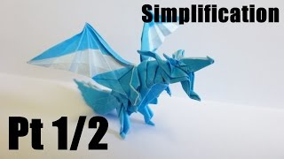 getlinkyoutube.com-Origami Fiery Dragon 折り紙 折り方 ドラゴン 【簡略化】