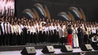 """getlinkyoutube.com-""""Hallelujah"""" presented by Nagaland choir : Handel's Messiah in India!"""