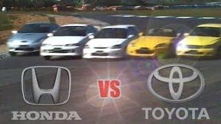 getlinkyoutube.com-[ENG CC] Toyota vs. Honda - Integra R, Civic R, S2000, Celica, Altezza Ebisu 1999