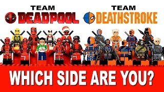 getlinkyoutube.com-LEGO Deadpool vs Deathstroke Marvel vs DC Comics? Which Side Are You On?