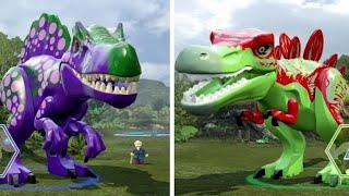 getlinkyoutube.com-LEGO Jurassic World - Custom Large Dinosaurs (T-Rex & Indominus Rex)