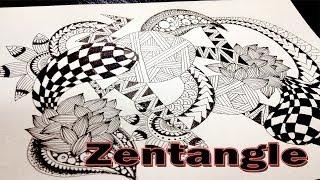 getlinkyoutube.com-High Speed Zentangle
