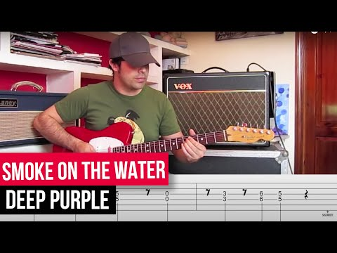 APRENDE A TOCAR SMOKE ON THE WATER ACORDES LECCION FACIL GUITARRA ELECTRICA