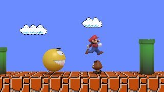 Pacman vs Super Mario CRAZY BATTLE