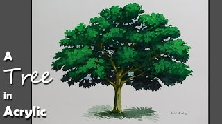 getlinkyoutube.com-Acrylic Painting : How to Paint A Tree in Acrylic | Step by step