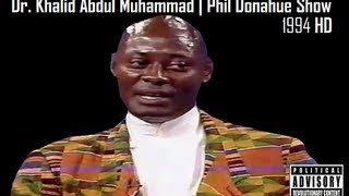 getlinkyoutube.com-RBG- Dr. Khalid Abdul Muhammad  Phil Donahue Show 1994 HD