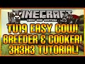 Minecraft (Xbox & Playstation) TU19 UPDATE - THE EASY COW BREEDER & COOKER STEP BY STEP TUTORIAL