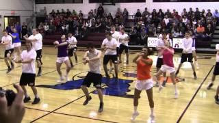 getlinkyoutube.com-Awesome Cheerleaders and Basketball Players Dance Cobden High School