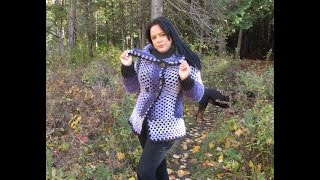getlinkyoutube.com-Crochet cardigan pentagono con Caron cakes  para principiantes
