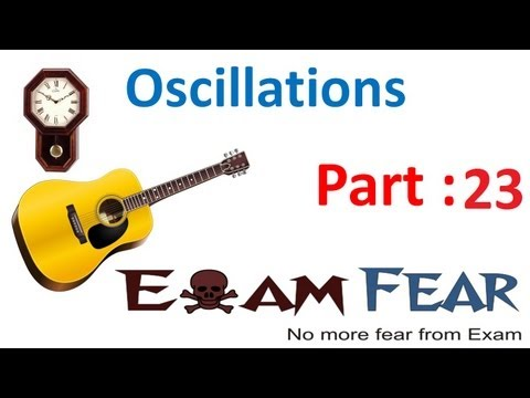 Physics Oscillations part 23 (Simple harmonic Motion : Spring Oscillations) CBSE class 11
