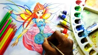 getlinkyoutube.com-how to draw and paint princess bloom from winx club bloomix