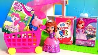 getlinkyoutube.com-Caixinha de Kinder Ovos Surpresa Meninas, Princesinha Sofia, Meu Pequeno Pônei Huevos Sorpresa