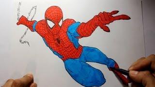 getlinkyoutube.com-Wie zeichnet man Spiderman [Marvel Tutorial]