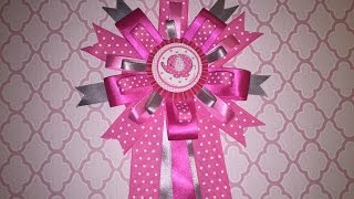 Pink Elephant Baby Shower Corsage