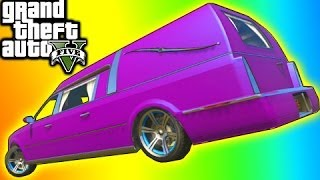 getlinkyoutube.com-GTA 5 Tips: Rare Car Hearse Location (GTA V Online Chariot Romero Hearse)