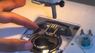 تعلم الخياطة بالمكينة: تعبئة وتنظيف  المكوك sewingmachine 102