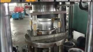 getlinkyoutube.com-Hydraulic press doing fabrication for Stainless steel pot, sink forming process