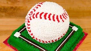 getlinkyoutube.com-3D Baseball Cake from Cookies Cupcakes and Cardio