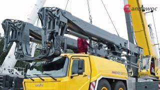 getlinkyoutube.com-Grove GMK six-axle mobile cranes - Mega Wing Lift