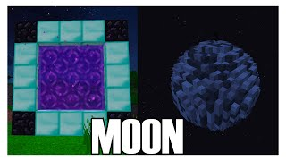 getlinkyoutube.com-How to Make a Portal to the MOON in Minecraft (No Mods)