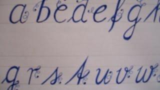 getlinkyoutube.com-cursive fancy letters - how to write cursive fancy lower case
