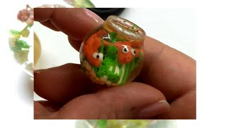 getlinkyoutube.com-Miniature aquarium with resin, polymer clay and a latex mold