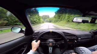 getlinkyoutube.com-E36 318is wet uphill drift onboard