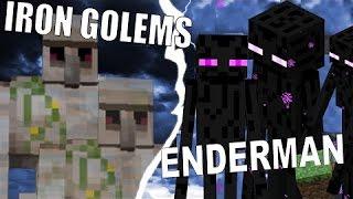 getlinkyoutube.com-Minecraft - Who Will Win? - 3 Iron Golems vs 20 Endermen #4
