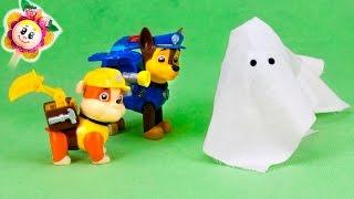 getlinkyoutube.com-La PATRULLA CANINA y PEPPA PIG: 😱 la caza del FANTASMA |Marshal sonámbulo con disfraz de Halloween
