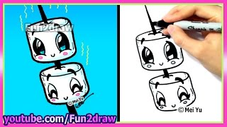 getlinkyoutube.com-How to Draw Marshmallows Cute & Easy
