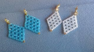 getlinkyoutube.com-PENDIENTES AZUL Y BLANCO JADE-EARRINGS BLUE AND WHITE JADE