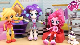 getlinkyoutube.com-Juguetes de My Little Pony - Rarity Mini Equestria Girls Fiesta de las chicas