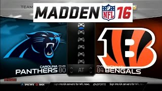 getlinkyoutube.com-Madden NFL 16 Panthers vs Bengals Full Match Gameplay PS3 HD