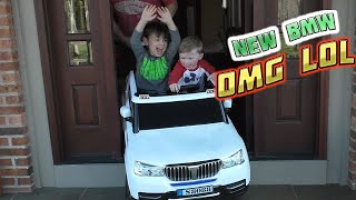 getlinkyoutube.com-BMW Baja Power Wheels SportTrax Kids Vehicle with SECRET DRIVER!