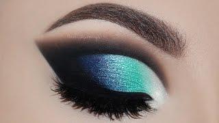 ♡ Maquiagem Cut Crease Azul   Melissa Samways BR ♡
