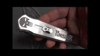 getlinkyoutube.com-The Punisher - Custom OTF Knife