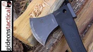 getlinkyoutube.com-Schrade SCAXE2L Survival Hatchet Review