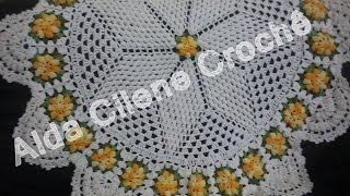 getlinkyoutube.com-Toalha de Mesa com Flor Pipoca em Crochê ( Parte 2 )