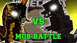 getlinkyoutube.com-BATTRA LARVA VS GODZILLA - Minecraft Mob Battles - Minecraft Mods