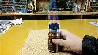 getlinkyoutube.com-Aromax Alcohol Stove 自由に火力を調節できる 自作 アルコールストーブ