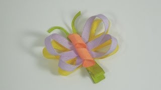 getlinkyoutube.com-How To Make A Butterfly Hair Bow/Clip Tutorial
