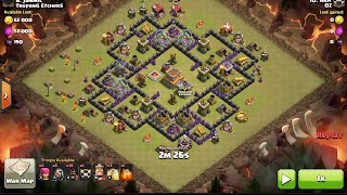 getlinkyoutube.com-How to 3 Star Kyoukai TH8 base with Hogs, clash of clans, clan war