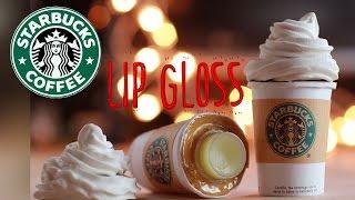 getlinkyoutube.com-DIY Starbucks Lip Gloss - How To Make Sweet Lip Balm Coffee Cup Drink  - Polymer Clay Tutorial