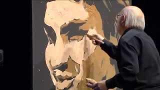 getlinkyoutube.com-Jean-Pierre Blanchard pinta a Roger Federer en 4 minutos