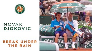 getlinkyoutube.com-French open in the rain with Novak Djokovic